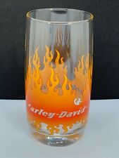 Harley Davidson Drinking Glass With Flames Design