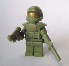 Lego Custom HALO ODST Minifigure Shock Trooper SMG Pistol -Olive Green-