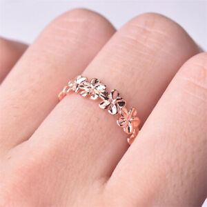 Elegant Carved 925 Silver,Gold,Rose Gold Plated White Sapphire Ring US Size 6-10