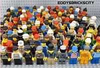 LEGO 20x Mini-Figur Paket alle mit Kopfbedeckung