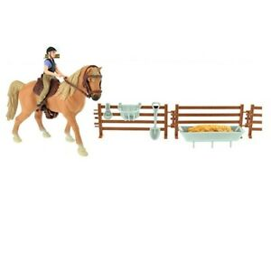 Horse Rider Playset Fences Hay Shovel Farm Countrysde Animals