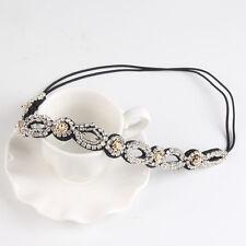 Bling Rhinestone Elastic Headband Handmade Hollow-Out Pretty Girls Head Jewelry