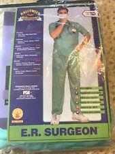 Doctor Md Halloween Costume Adult Surgeon Scrubs plus scrubs mask hat lanyard
