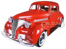 1939 CHEVROLET COUPE RED 1:24 DIECAST MODEL CAR BY MOTORMAX 73247