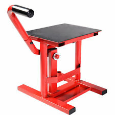 Motorcycle Racing Offroad Motocross Dirt Adjustable Steel Lift Jack Stand Red