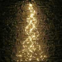 100/200LED Tree Vine Fairy String Waterfall Copper Wire Lights Xmas Party Decor