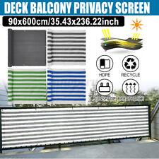 6M Deck Balcony Privacy Screen HDPE Screening Fence Garden Sunshade Wall Panel