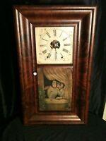 Antique OGEE Clock Smith & Goodrich Ladies In Window 1847-1852 8 Day Ogee!!!