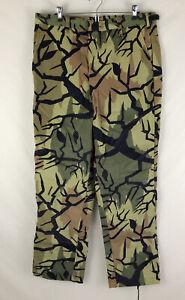 Vintage PREDATOR CAMOUFLAGE CAMO Hunting Pants Adjustable USA Mens Size Large L