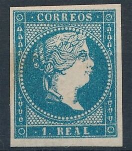 [39017] Spain 1857/60 Good classical stamp Very Fine MH but little rust