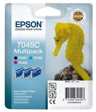 Epson T048C Ink Cartridge Seahorse, Multipack, 3-Farbig