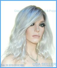 AVALON Estetica Wig Lace Front Beach Waves SILVERSUNRT8 Blond Rooted