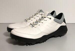 ECCO Strike 2.0 Golf Shoes White Leather Men's Size EU 43 / US 9-9.5 Exc!