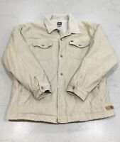 Quicksilver Fur Lined Jacket Tan Size XL Skate Surf