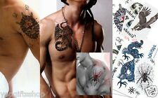 6-pack Mix Animal Temporary Tattoo For Tough Guy Tribal Tattoo
