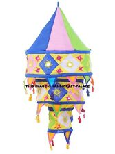 Decorative light lamp cotton Patchwork Handmade Hippie Decor Indian Lampshade