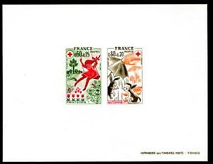 FRANCE B481-B482 DELUXE SOUVENIR SHEET, RED CROSS, MEDICAL