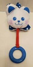 Fisher Price Blue Cat Teether Small Puffalump Plush Cat Vintage 1990