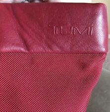 TUMI Cherry Red Bucket Ballistic Nylon & Leather Tote Shopper Purse