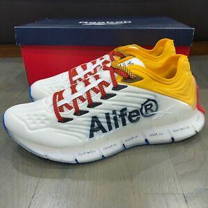 Reebok Zig Kinetica Alife White Red Yellow Blue Running Shoes Men's New