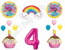TROLLS POPPY & RAINBOW 4th Movie Birthday Party Balloons Decoration Supplies