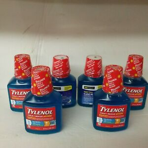 Mixed Lot of 6 Tylenol Cold + Mucus Severe Daytime  Cool Burst & DG Night ...359