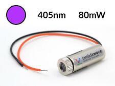 LAMBDAWAVE Violet Laser Module 80mW 405nm Dot Line Cross Diode TTL