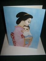 "BIG EYES 1991 Margaret Keane ""NUMBER ONE SON"" Greeting Card/New with Envelope"