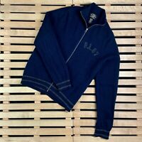 Mens Wool Sweater Bomber Full Zip Polo Jeans Ralph Lauren Size M