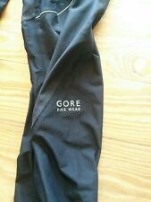 "Gore Bike Wear black Gore-Tex Pants Waterproof Windproof taped men's L 36"" waist"