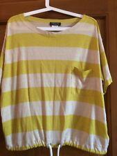 T-shirt Maglia Maglietta Weekend By Max Mara, Colore Giallo Con Righe, Taglia L