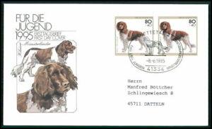 GERMANY FDC 1995 DOGS MÜNSTERLÄNDER DOG CHIENS CANI PERROS SOBAKI HUNDE fj05