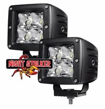 "3"" Square 12 Watt Quad Night Stalker LED.High Energy Flood Beam Off Road Light"
