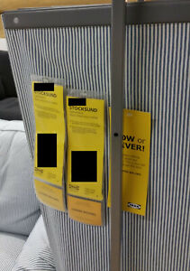 IKEA Stocksund 3 Seat Sofa SLIPCOVER Remvallen Blue White Stripes COVER ticking