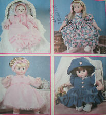 SIMPLICITY PATTERN #8960 DESIGN YOUR OWN DOLL CLOTHES ALL SIZE DOLLS (S,M,L) NEW