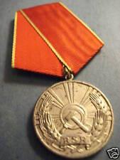 Romania Romanian Medal Meritous Labor RSR Soviet badge Communist Soviet
