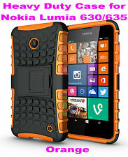 Orange Heavy Duty Strong Tradesman TPU Case Cover Stand For Nokia Lumia 630/635