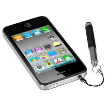RETRACTABLE STYLUS PEN W/ 3.5mm DUST CAP iPHONE/iPAD/iPOD/iPOD TOUCH BLACK