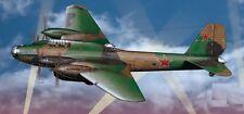 Petlyakov Pe-8 Soviet Heavy Aircraft Mahogany Wood Model Large New