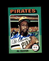 Al Oliver Hand Signed 1975 Topps Pittsburgh Pirates Autograph