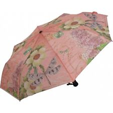 Coynes Pink Dragonfly Folding Umbrella with Automatic Open Auto Close