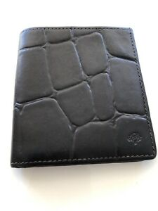 Stunning Vintage Mulberry Brown Congo Leather Bifold Wallet
