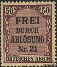 Allemand Empire d8 avec charnière 1903 Prusse/inscription