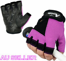 Half Finger Ladies Gel Weight Lifting Workout Gloves Fitness Gym Training Gloves