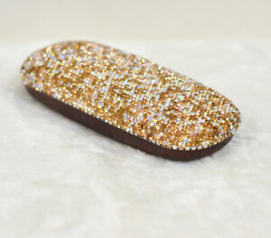 Bling Crystal Diamante Diamond Eyeglass Glasses Storage Box Case cover Holder