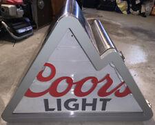 Coors Light Mountain Peaks Stainless Steel Refrigerator Beer Cooler Mini Fridge