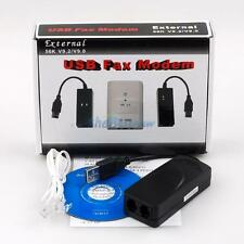 New USB2.0 56K V9.2/V9.0 External Dial Up Voice Data Fax Modem For Windows XP/7