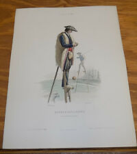 1850 Antique COLOR Print/French Costumes/SHEPHERD, THE MOORS & POSTMAN, FRANCE