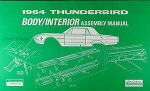 1964 Thunderbird Body and Interior Assembly Manual Ford T bird Seats Trim Window
