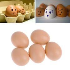 5 × Simulation Faux Fake Plastic Eggs Chicken Joke EGGS PRANK de D7E6 R5Q1